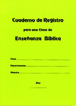 Cuanderno de registro para una clase de enseñanza bíblica