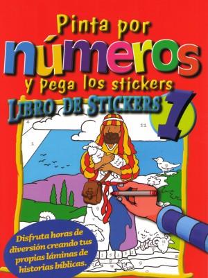 Pinta por números y pega los stickers: Libro 1