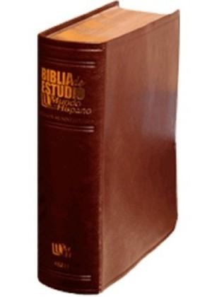 Biblia de Estudio Mundo Hispano (Piel Europea)