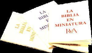La Biblia en miniatura (azul)